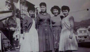 Hanging with her home girls, Japan 1958 or '59
