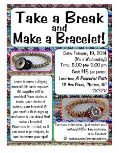 Take a break and make a bracelet!