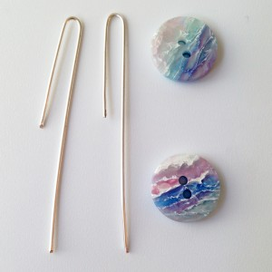 easy button earrings