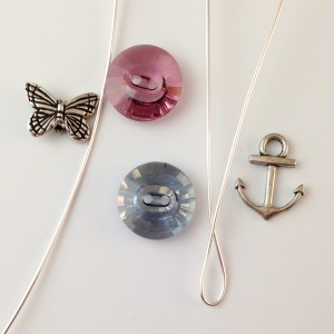 buttons wire, charms, beads
