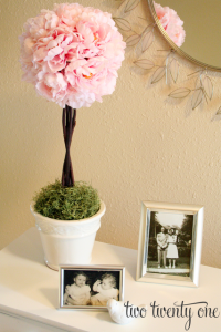 peony topiary from two twenty two